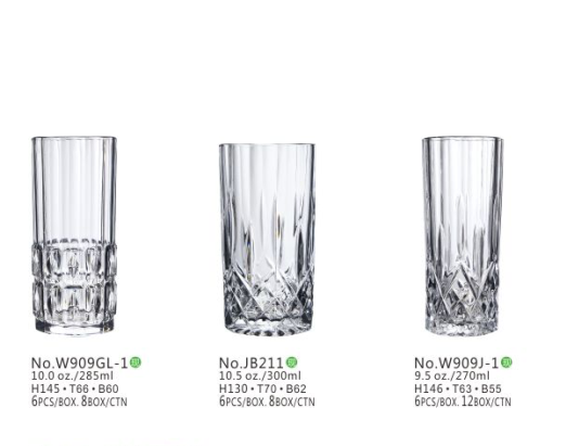 11 Oz Size Crystal Whiskey Glasses Bar Short Glass / Stock Glass Tumbler