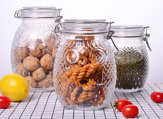 Good Quality Decorative Glass Vases & Owl Shape Tea Glass Jar Container / Glass Storage Jar With Silicon On Lid on sale