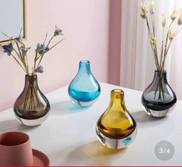Good Quality Decorative Glass Vases & Brown Colored Glass Flower Vases / Bulb Type Glass Flower Vase Decoration on sale