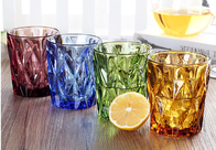 China Lemon Tea Solid Glass Products 300ml Colorful Drinking Cup Machine Made OEM factory