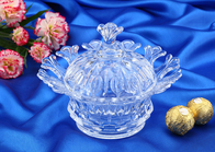 China Wedding Gift Glass Candy Bowl With Lid / Glass Storage Jar For Nut company