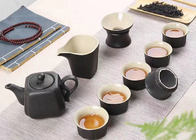 China Custom Black Color Ceramic Mugs Ceramic Tea Set For Family Party / Tea Shop company