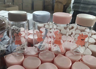 China Glass Water Bottle / Transparent Glass Juice Bottle / Colored Water Glasses factory