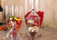 China Handmade Large Glass Sugar Jars / Wedding Cookie Glass Lolly Jar For Storage company