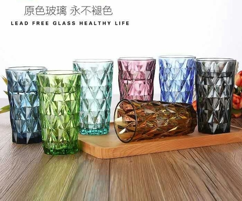 Clear Lead Free Long Glass Cup / Household Dinner Drinking Glass Water Cup