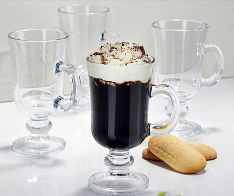 Coffee Ice Cream Sundae Glasses Mug , Cappuccion Juice Glass Ice Cream Bowls