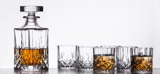 Sauare Shape Glass Whiskey Decanter Set / 650ml Personalized Scotch Decanter