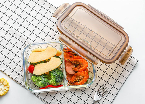 Storage Glass Food Container With Lid / Glass Crisper / Microwave Glass Bowl