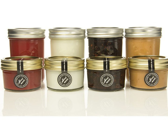Gift 100ml Transparent Glass Storage Jars With Lids For Honey Jam Spicy