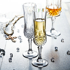 Celebration Champagne Wedding Wine Glasses / Transparent Glass Cup With Lid